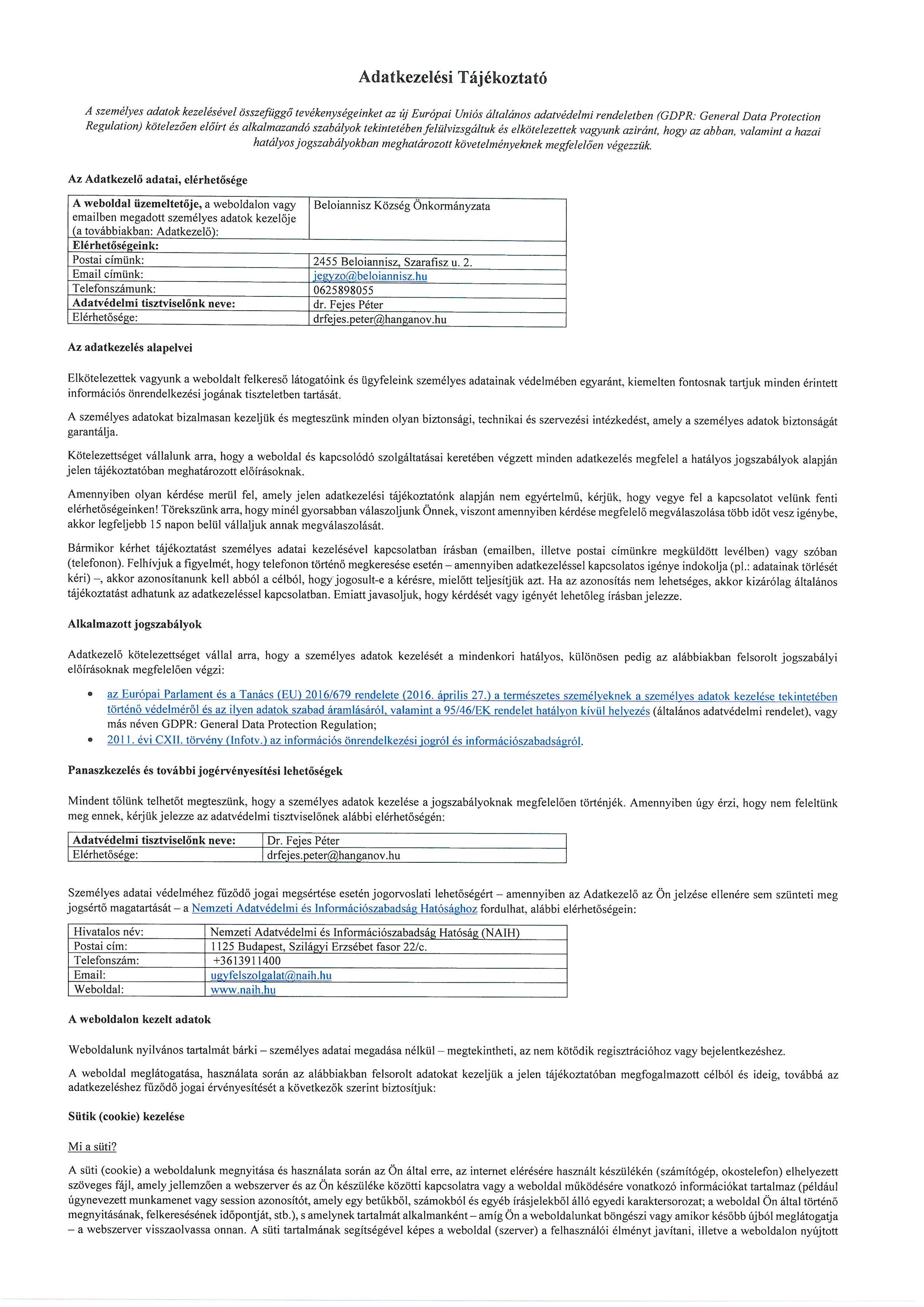 7f4b4022aa Adatkezelési Tájékoztató – beloiannisz.hu